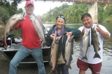 Red hot salmon fishing..